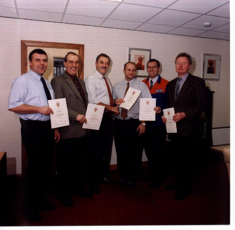 Hanson managers receive their IOSH